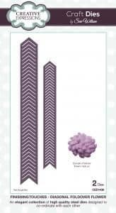 Sue Wilson Craft Dies - Finishing Touches Collection - Diagonal Foldover Flower- CED1436