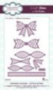 Sue Wilson Craft Dies - Finishing Touches Collection - Lattice 3D Bow - CED1404