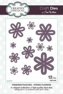 Sue Wilson Craft Dies - Finishing Touches Collection - String Flowers - CED1440