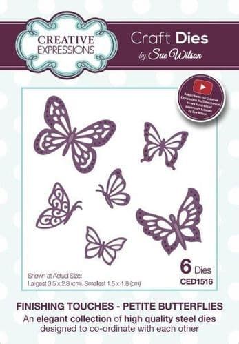 Sue Wilson Craft Dies - Finishing Touches - Petite Butterflies - CED1516