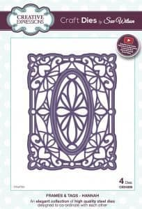 Sue Wilson Craft Dies - Frames & Tags Collection - Hannah - CED4309