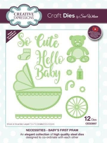 Sue Wilson Craft Dies - Necessities - Baby's First Pram – CED23007