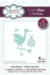 Sue Wilson Craft Dies - New Arrival Collection - Stork & Baby – CED10024