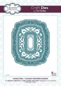 Sue Wilson Craft Dies - Noble Collection - Classic Adorned Design - CED5505