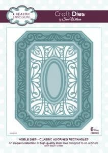 Sue Wilson Craft Dies - Noble Collection - Classic Adorned Rectangles - CED5501