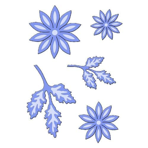 Sweet Dixie Cutting Die -  Stylised Daisy - SDD103