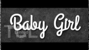 Tando Greyboard Word - Baby Girl