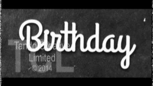Tando Greyboard Word - Birthday