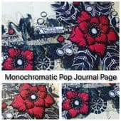 Tracy Scott Monochromatic Pop Journal Page Workshop
