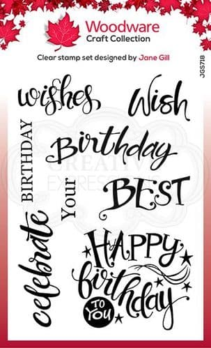 Woodware - A Birthday Moment - Clear Magic Stamp Set - JGS718