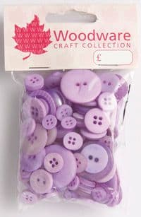 Woodware Assorted Buttons - Lavender - BT005