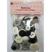 Woodware Assorted Buttons - Monochrome