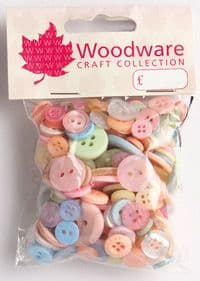 Woodware Assorted Buttons - Pastels - BT016