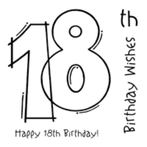 Woodware Clear Singles Stamp - 18th Birthday
