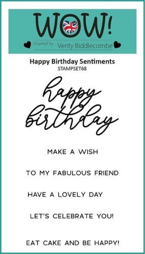 WOW! Clear Stamp Set - Happy Birthday Sentiments (by Verity Biddlecombe)