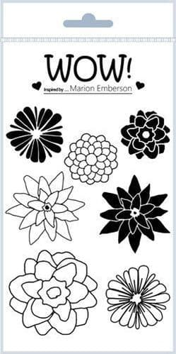 WOW! - Clear Stamp Set - Hey Little Flower (by Marion Emberson - STAMPSET42