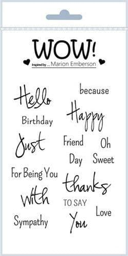 WOW! - Clear Stamp Set - Just Saying (by Marion Emberson) - STAMPSET41