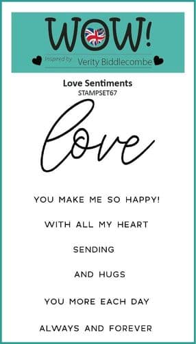 WOW! Clear Stamp Set - Love Sentiments (by Verity Biddlecombe)