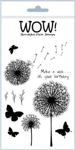 WOW! - Clear Stamp Set - Make A Wish - (by Marion Emberson) - STAMPSET16