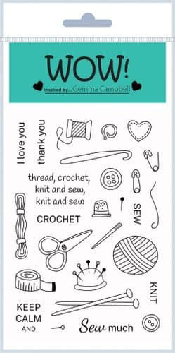 WOW! - Clear Stamp Set - Simply Sew (by Gemma Campbell)