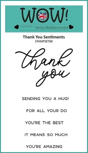 WOW! Clear Stamp Set - Thank You Sentiments (by Verity Biddlecombe)
