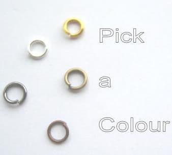 4mm jump rings x 70. Pick a colour.