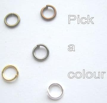 5mm jump rings x 70. Pick a colour.