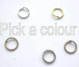 6mm jump rings x 65. Pick a colour.