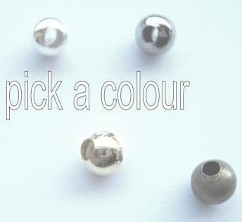 6mm spacer beads x 60. Pick a colour.