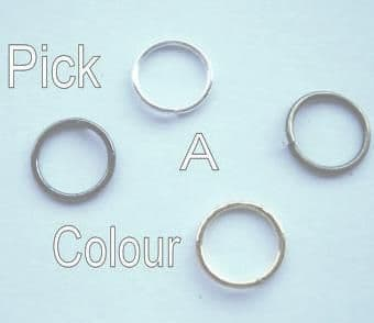 8mm jump rings x 50. Pick a colour.