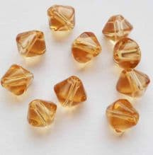 Bicone Beads Light Brown x 10. 8mm