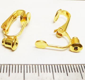 Clip on converter earrings x 4. Gold plated.