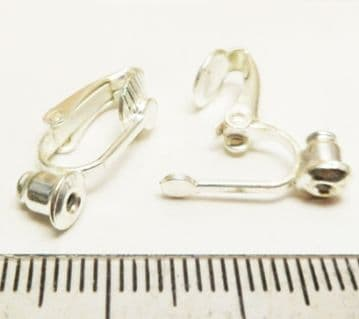 Clip on converter earrings x 4. Silver plated.