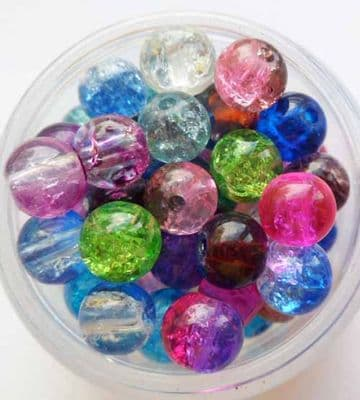 Crackle beads mix 6mm x 20.