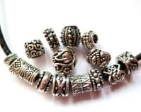 European style beads with large hole.