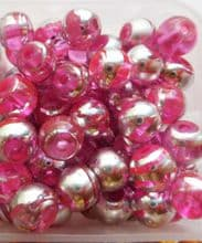 Glass Drawbench Beads 6mm Pink x 20