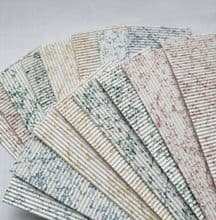 Marble Corrugated card. 16 strips