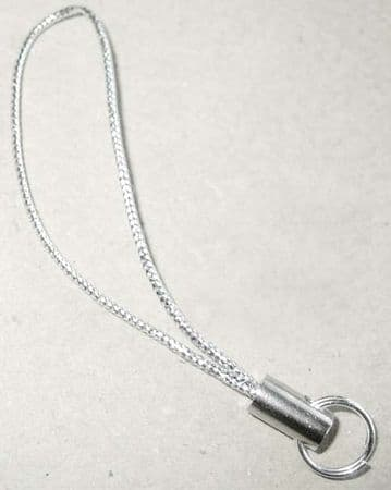 Mobile phone loops,lariats x 10. Silver with silver findings
