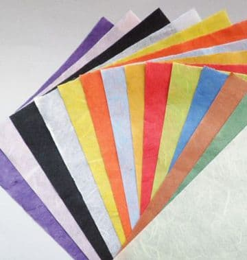 Mulberry Craft Paper. 14 sheets A5. Colours as pictured.
