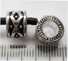 Single bead with large 4.7mm hole. 9mm x 6.5mm