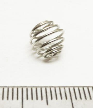 Spiral cages x 10. Antique Silver. 9mm x 8mm.