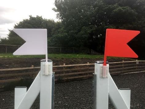 A Pair of Show Jump Flag Markers