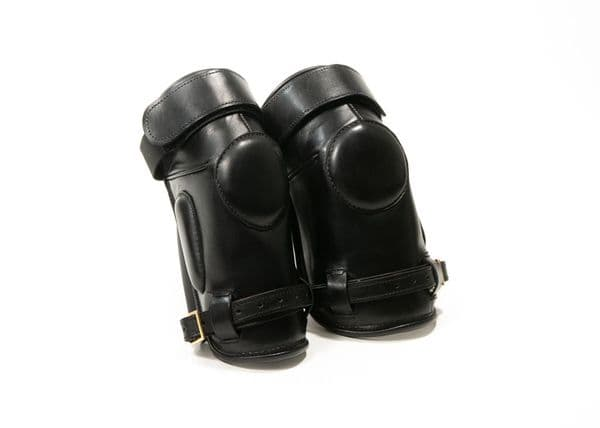 Lascano Premium Black Knee Pads with Buckle