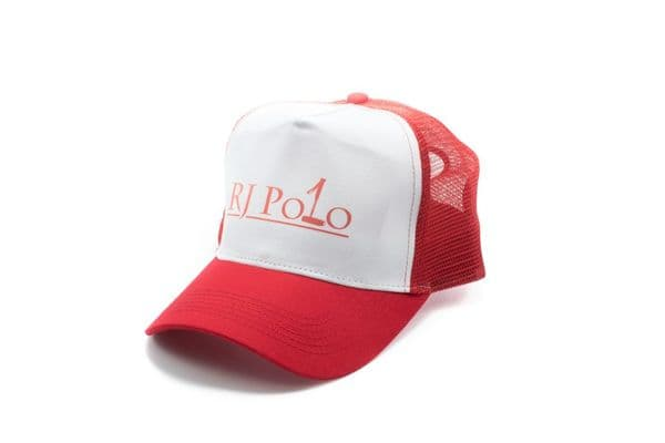 Trucker Cap with RJ Polo logo in Red
