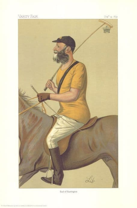 "Vintage Polo Player Print. - ""Yeoman - Like Polo"" (Earl of Harrington)"
