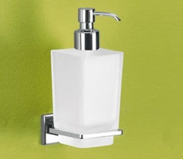 Gedy Colorado Frosted Glass Soap Dispenser Chrome 6981-13