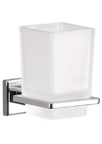 Gedy Colorado Frosted Glass Tumbler Holder Chrome 6910-13