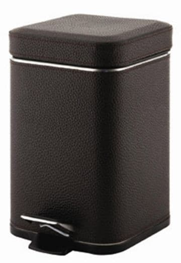 Gedy Pedal Bin Soft Close 3L Wenge Faux 2209-19