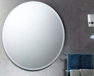 Gedy Round Bevelled Edge Mirror - 2530