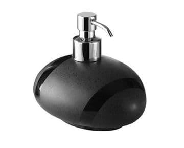 Gedy Stone Soap Dispenser Moka/Chrome 5081-29